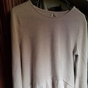 Light pink/pale long sleeved blouse